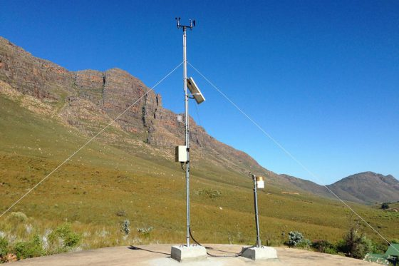 InterMet Automatic Weather Station mountain side