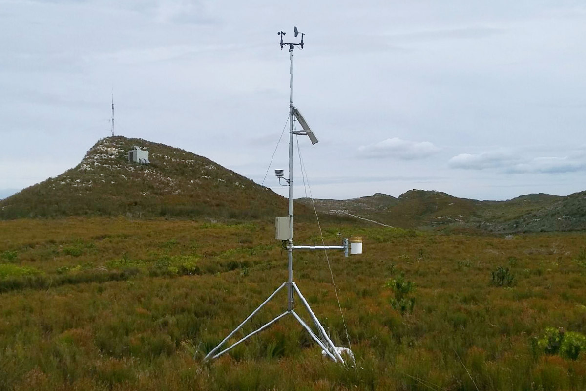 InterMet Automatic Weather Station on mountain