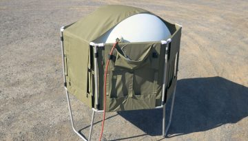 Meteorological Balloon Inflation Shelter